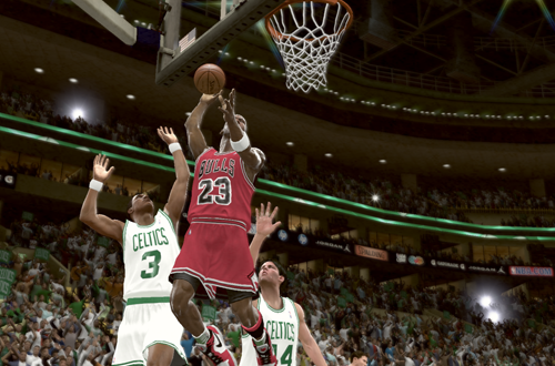 Michael Jordan vs the '86 Boston Celtics in NBA 2K11's Jordan Challenge