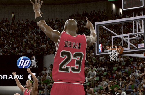 Michael Jordan celebrates title number six in the Jordan Challenge (NBA 2K11)
