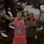 Michael Jordan celebrates title number six in NBA 2K11's Jordan Challenge