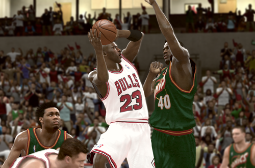 Michael Jordan vs. Shawn Kemp in NBA 2K11's Jordan Challenge
