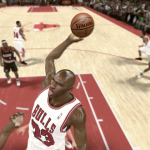 Michael Jordan dunks on the Trail Blazers in the Jordan Challenge (NBA 2K11)