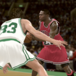 Michael Jordan vs. Larry Bird in the Jordan Challenge (NBA 2K11)