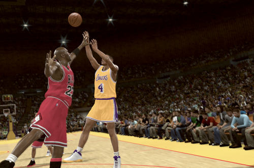 Michael Jordan vs. Byron Scott in NBA 2K11's Jordan Challenge