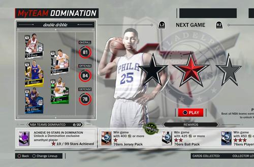 Domination in NBA 2K17's MyTEAM