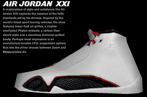 Dahl's Air Jordan XXI Shoe Mod for NBA Live 06