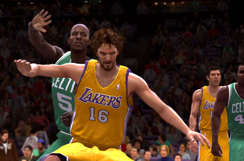 Pau Gasol vs. Kevin Garnett in NBA Live 09