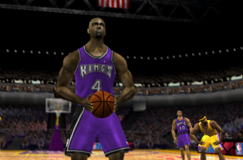 Chris Webber at the line in NBA Live 2002