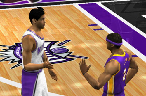Doug Christie and Derek Fisher in NBA Live 2002