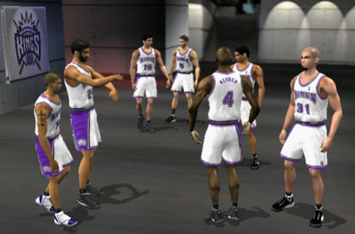 The Sacramento Kings Pre-Game in NBA Live 2002