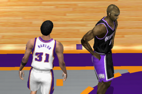 Shawn Marion and Chris Webber in NBA Live 2002