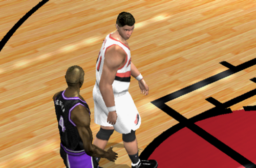 Chris Webber and Arvydas Sabonis in NBA Live 2002