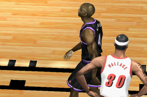 Chris Webber and Rasheed Wallace in NBA Live 2002