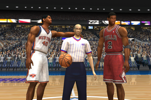 "A ""Courtside Comedy"" Cutscene in NBA Live 2003"