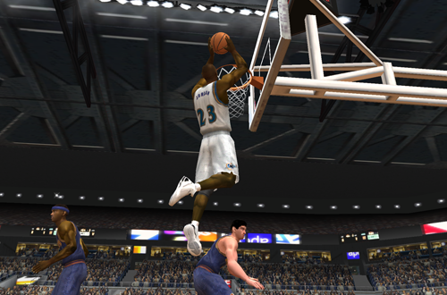 Michael Jordan dunks the basketball in NBA Live 2003