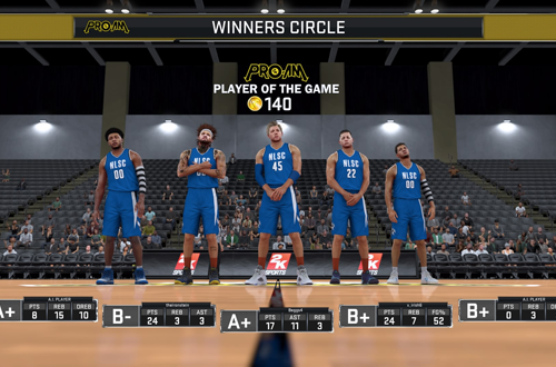 Player of the Game Virtual Currency in NBA 2K17's 2K Pro-Am