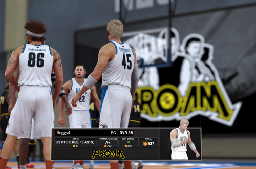 Virtual Currency Earnings in NBA 2K17's 2K Pro-Am