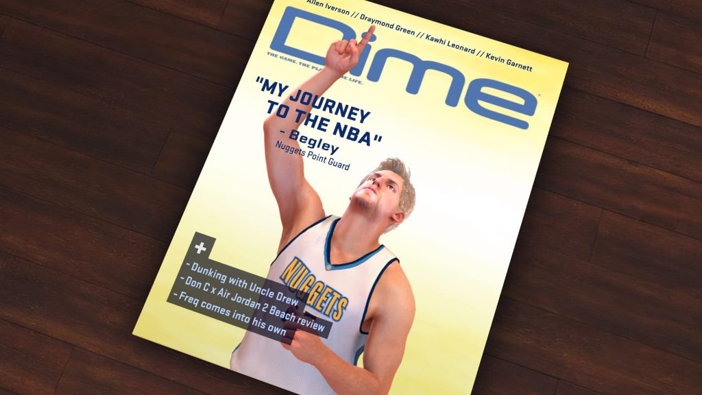 Dime Magazine Cover in NBA 2K17's MyCAREER