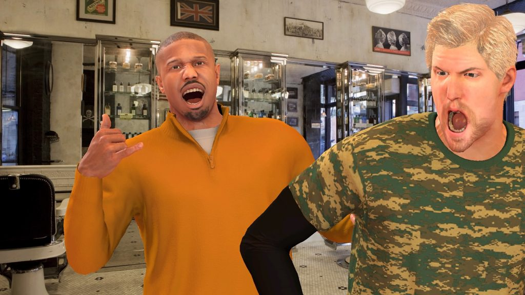 Barber Shop Photograph in NBA 2K17's MyCAREER