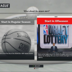 Selecting when you want to start your franchise experience in NBA 2K17's MyLEAGUE & MyGM
