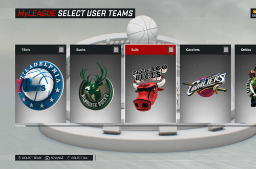 Selecting a franchise in NBA 2K17's MyLEAGUE