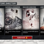 MyPLAYER Store in NBA 2K17, with prominent button to purchase Virtual Currency