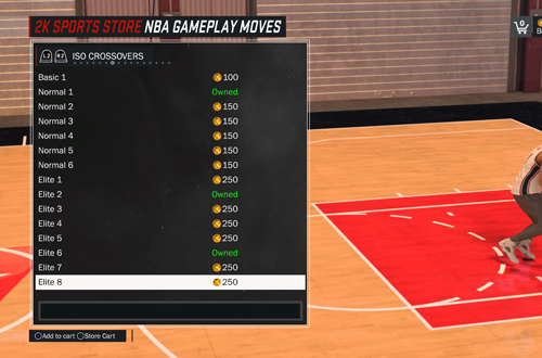 Buying NBA Gameplay Moves with Virtual Currency in NBA 2K17's MyCAREER
