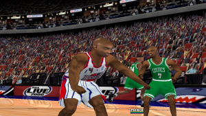 Charles Barkley flexes in NBA Live 2000
