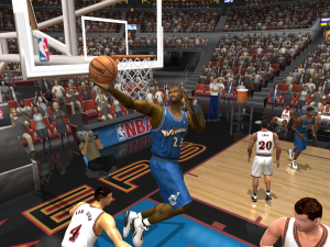 Michael Jordan with the reverse layup in NBA Live 2003