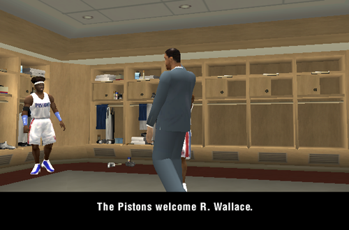 Trading Cutscene in NBA Live 2004's Dynasty Mode