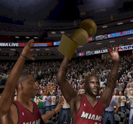 Miami Heat Championship in NBA Live 06