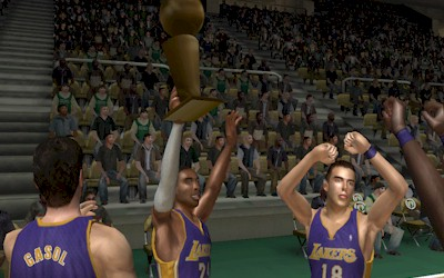 Los Angeles Lakers Championship in NBA Live 08