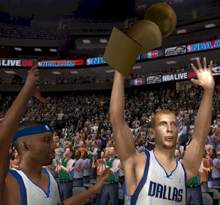 Dallas Mavericks Championship in NBA Live 06