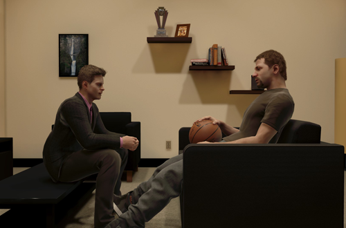 Post-Draft Dejection in NBA 2K15's MyCAREER