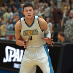 Danilo Gallinari in a MyCAREER game in NBA 2K17