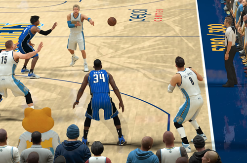Passing to Danilo Gallinari in NBA 2K17's MyCAREER