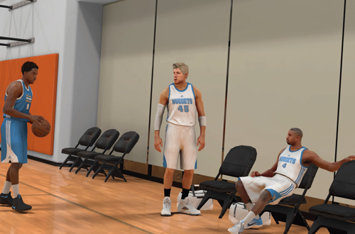 Pres, Justice Young, & Denver Levins in NBA 2K17's MyCAREER