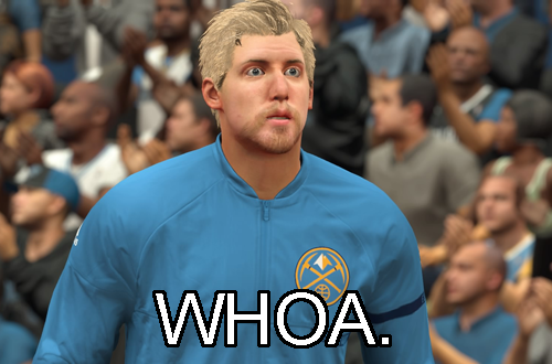 "A ""Whoa"" Expression from Pres in NBA 2K17's MyCAREER"