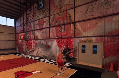 Chicago Bulls MyCOURT Mural in NBA 2K17