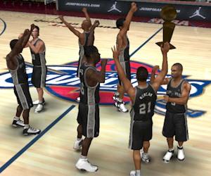 San Antonio Spurs Championship in NBA Live 07