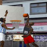 Michael Jordan in One-on-One in NBA Live 2000