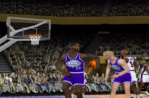 NBA Legends Magic Johnson & Larry Bird in NBA Live 2000