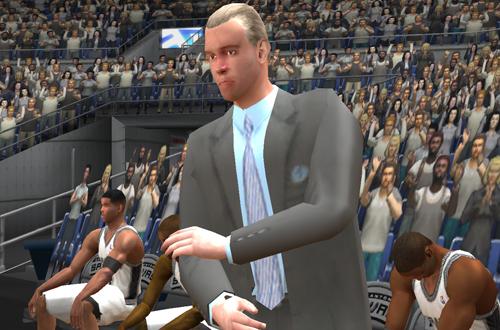 Gregg Popovich in NBA Live 2003