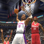 Vince Carter dunks the basketball in NBA Live 2004