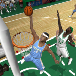 Carmelo Anthony dunks the basketball in NBA Live 2005