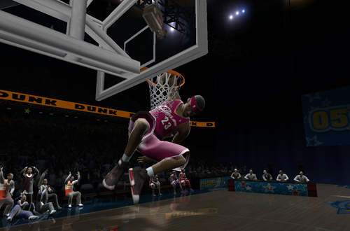 LeBron James in NBA Live 2005s Slam Dunk Contest