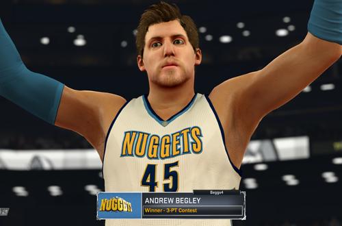 Three-Point Champion in NBA 2K17's MyCAREER