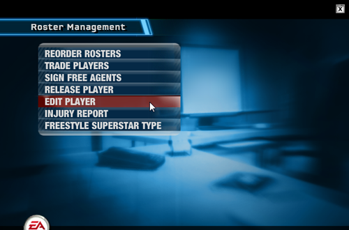 Roster Management Menu in NBA Live 06's Dynasty Mode
