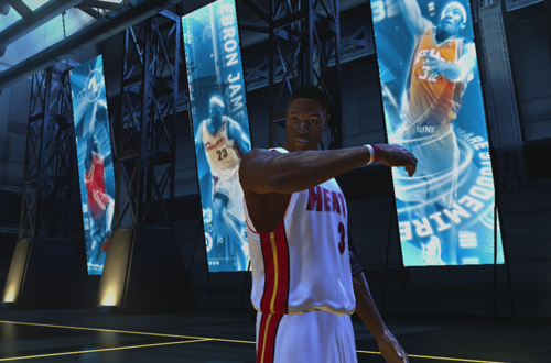 Dwyane Wade in The Temple in NBA Live 06