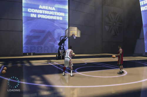 The Temple in NBA Live 07 While Loading