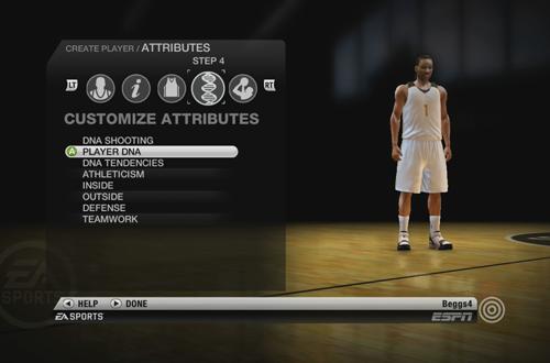 Create Player in NBA Live 10